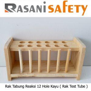 Rak Tabung Reaksi 12 Hole Kayu ( Rak Test Tube )