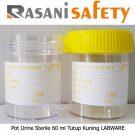 Pot Urine Sterile 60 ml Tutup Kuning LABWARE
